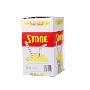 "Stone 8"" Flex Indiviually Wrapped Straws"