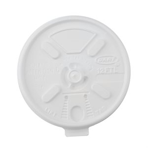 Dart® 12oz White Tear Lid