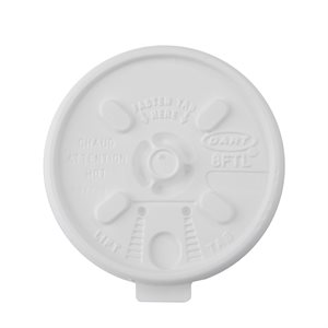 Dart® 8oz White Tear Lid