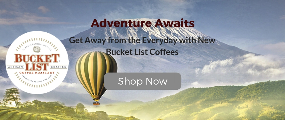 New Bucket List Coffee K-Cups now available