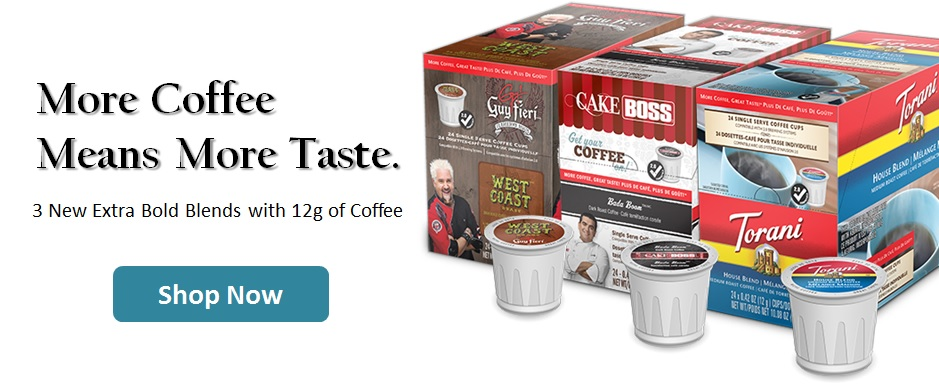 Single Cup Coffee Extra Bold Now Available