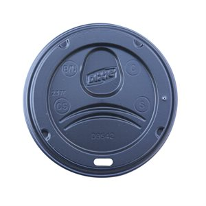 Perfect Touch 10-16oz Black Dome Lid